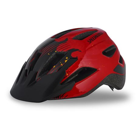 KASK SPECIALIZED SHUFFLE CHILD LED RED BLACK FLAME
