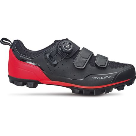 BUTY SPECIALIZED COMP MTB 41 BLACK ROCKET RED